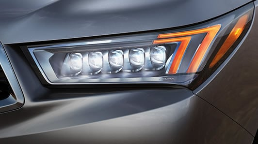 2017 Acura MDX jewel eye LED headlights.