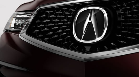 2017 Acura MDX all-new diamond pentagon grille.