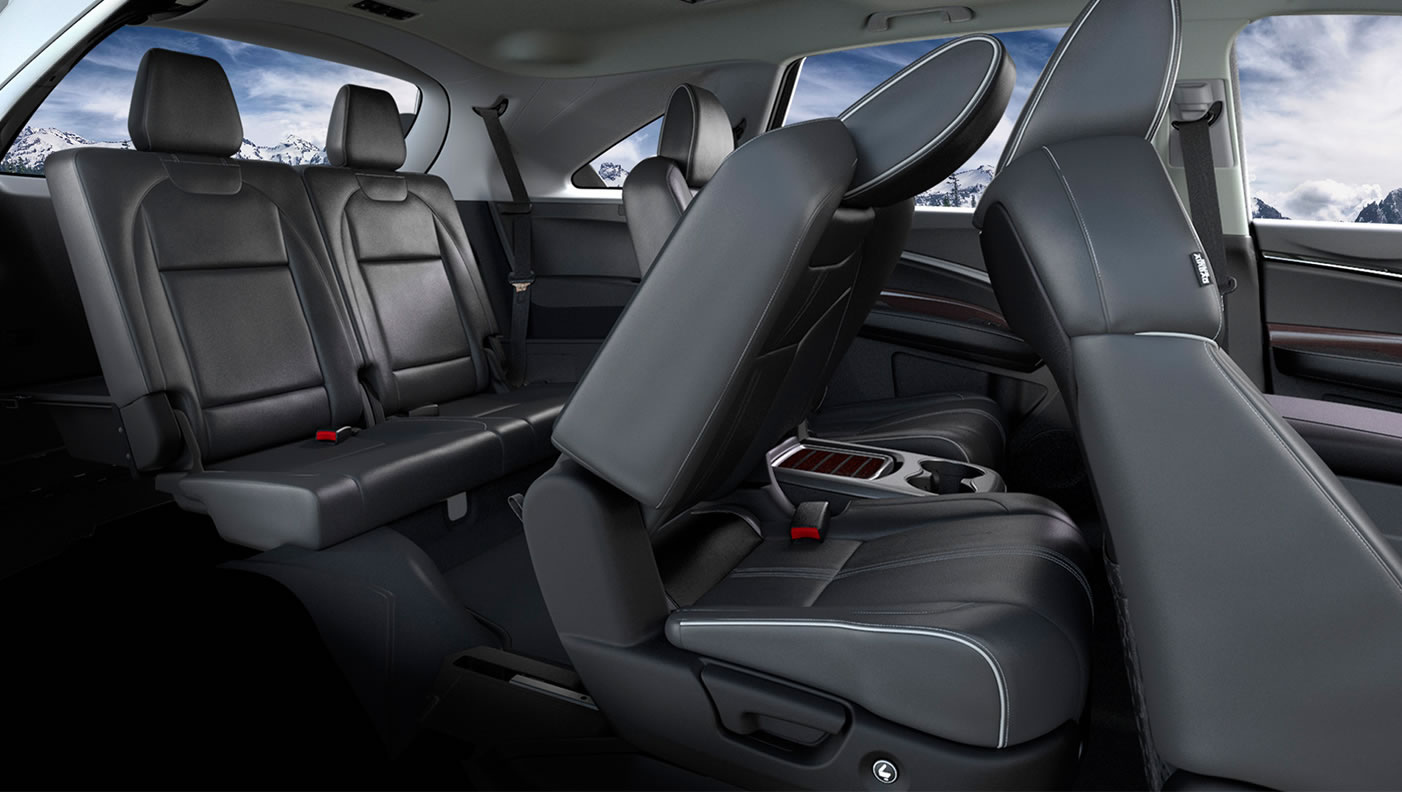 2017 Acura MDX Second Row.