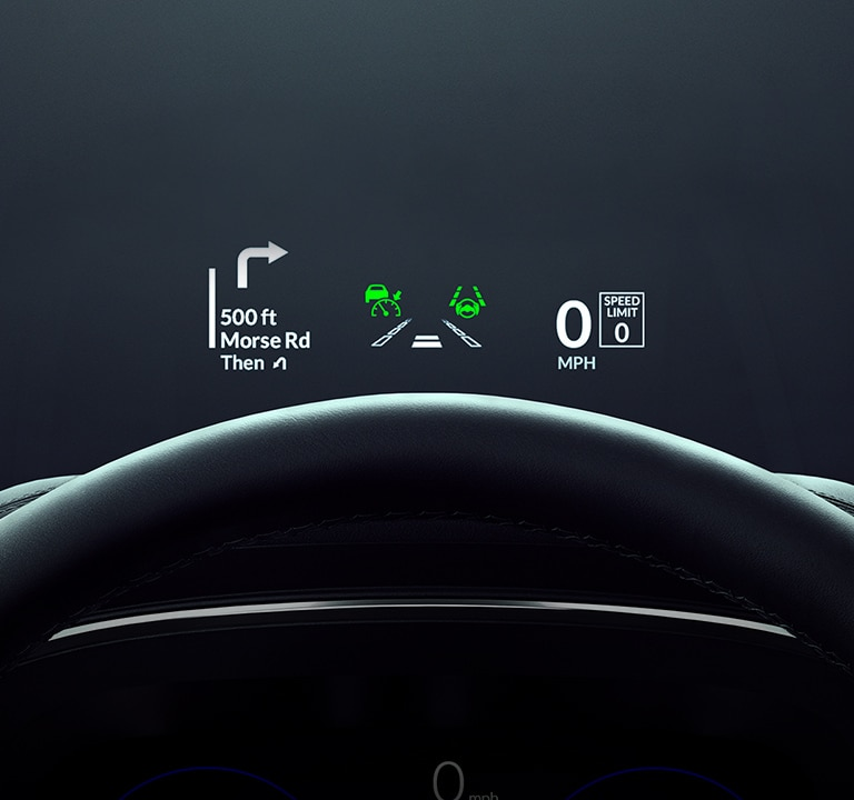 2022 Acura MDX Head-Up Display close up