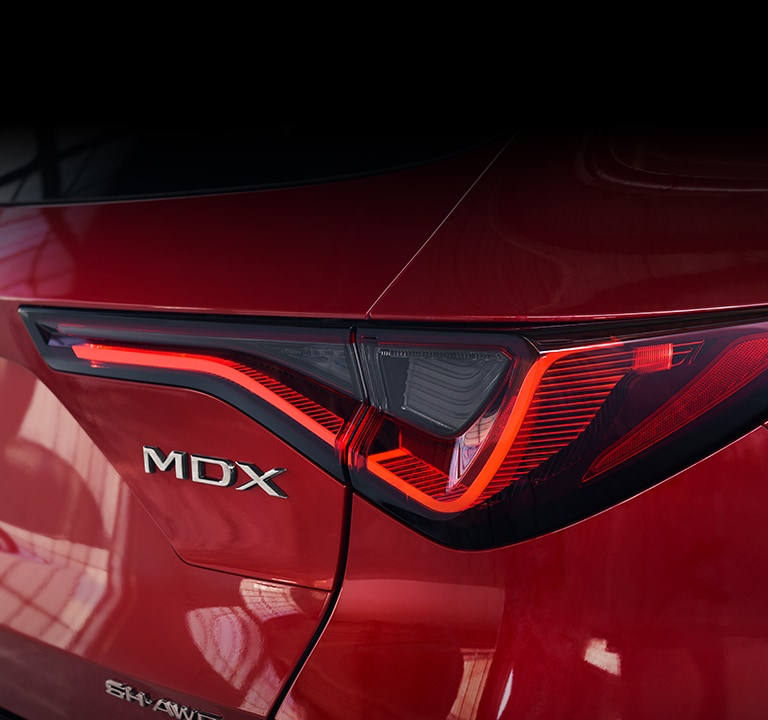 2022 Acura MDX A-Spec taillight with light on