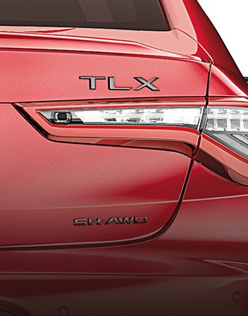 Acura TLX 2021 Black Chrome Emblems