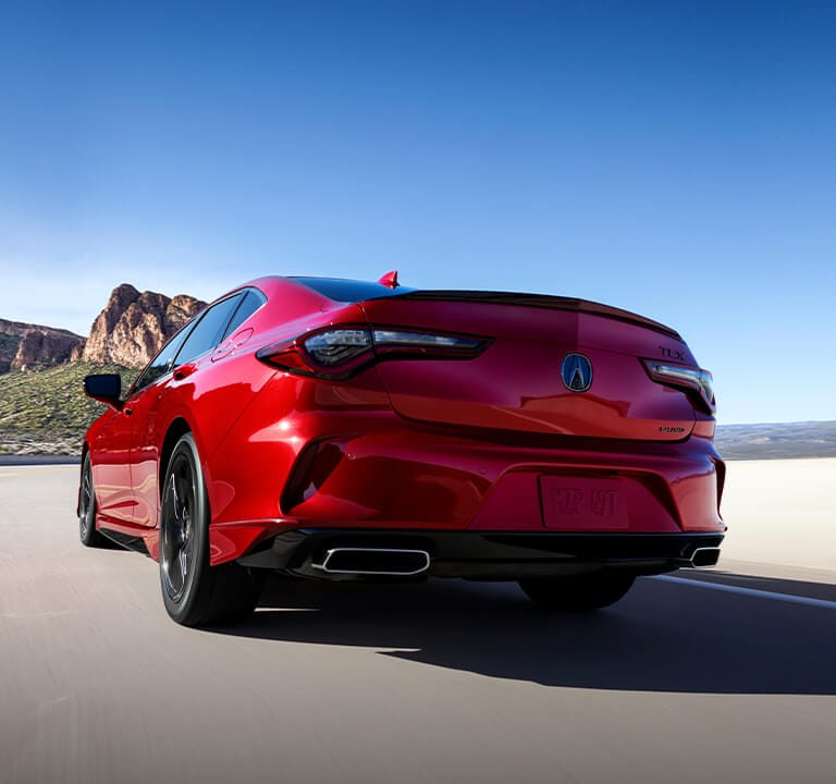 Acura TLX 2021 Premium Paint Technology showcasing Red Performance Pearl