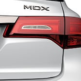 EMBLEM-MDX, DARK CHROME (part number:)