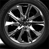 20-IN DARK CHROME FINISH ALLOY WHEELS (part number:)