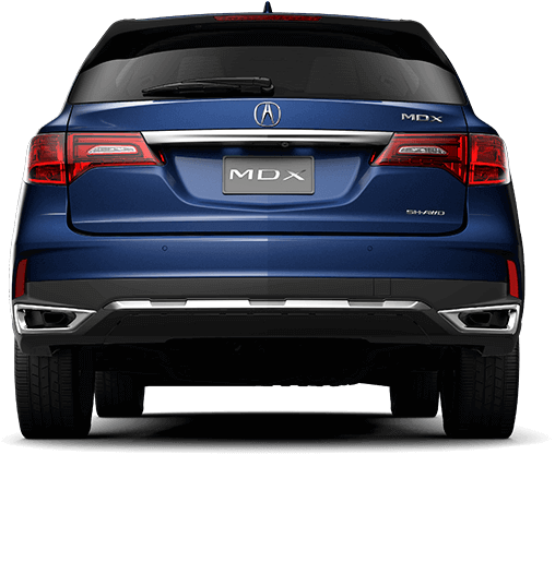 2017 Acura MDX chrome duel exhaust.