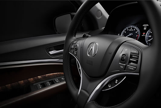 2017 Acura MDX heated steering wheel.