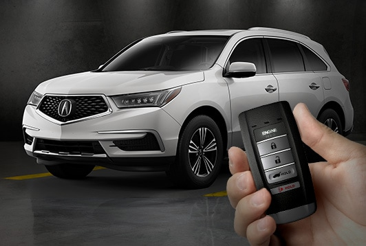 2017 Acura MDX remote engine start.